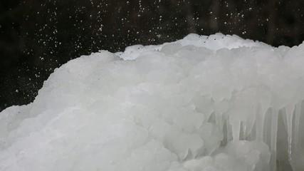 Regen auf Eis