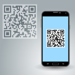 QR code in smartphone