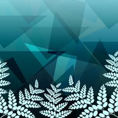 Foliage geometric background