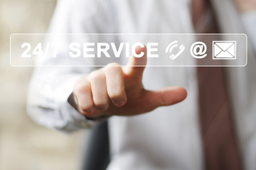 Business button web 24 hours service