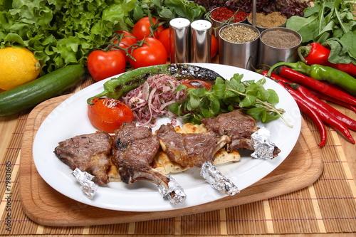 Fotobehang Restaurant kuzu pirzola