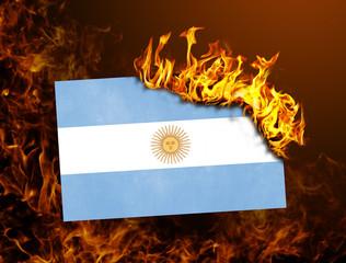 Flag burning - Argentina