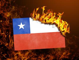 Flag burning - Chile