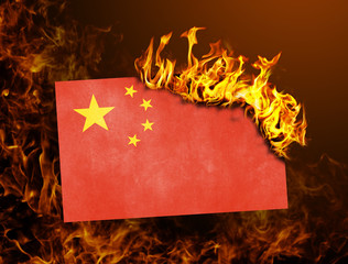 Flag burning - China