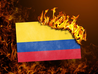 Flag burning - Colombia