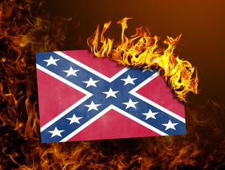 Flag burning - Confederate flag