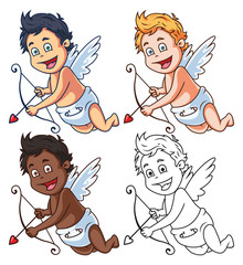 Cartoon Cupid Characters