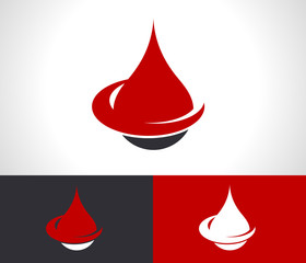Donate Blood Drop Logo Icon