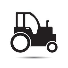 Farm tractor icon