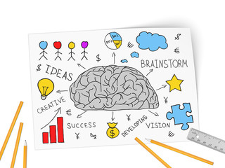 In brain come business of idea