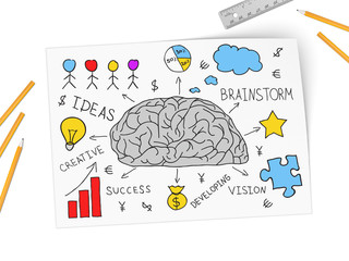 Brain develops new business of idea