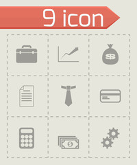 Vector black business icon set
