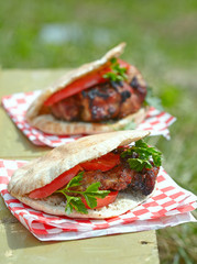 Pita with meat