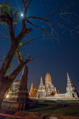 Wat chai watthanaram Ayutthaya Thailand