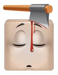 Square emoticon dead