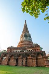 Pagoda and sky Ayutthaya Thailand