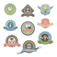 University Emblems And Symbols - Isolated   Illustration