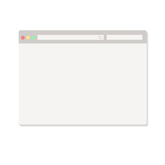 Simple browser window on white