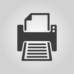 The printer icon. Printing symbol. Flat
