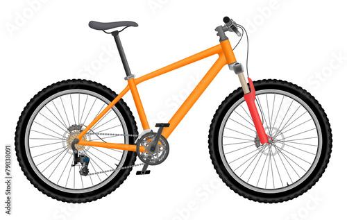 Vector orange bike - 79838091