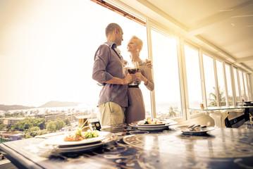 Couple in luxury restaurant