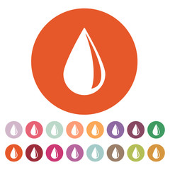 The drop icon. Water and Oil symbol. Flat