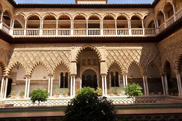 Real Alcazar de Sevilla. Patio de las Doncellas, Spain