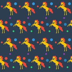 bright chorse seamless pattern in trendy flat style colors