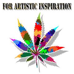 Colorful marijuana