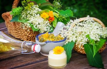 Holunderblüten, Heilpflanzen, Homöopathie