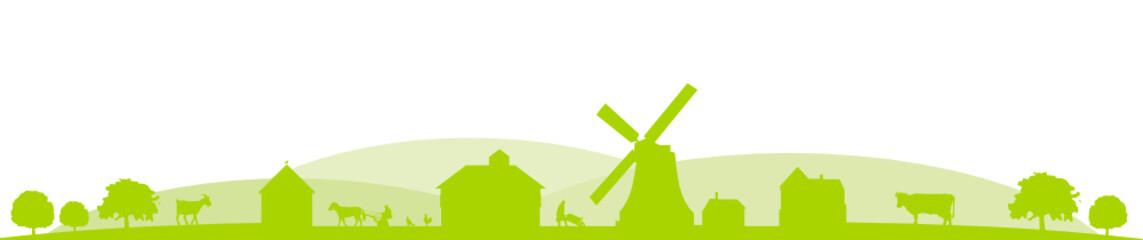 Bauernhof Berge grün