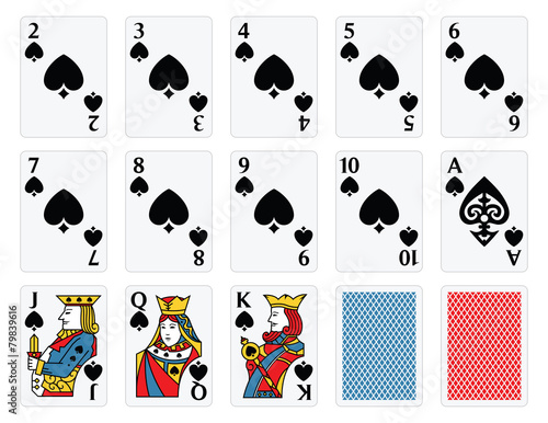 Playing Cards - Spades Set