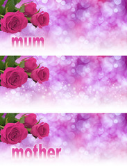 3 x Mother's Day Website Banner