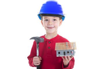 Kind möchte Bauarbeiter werden und Häuser bauen