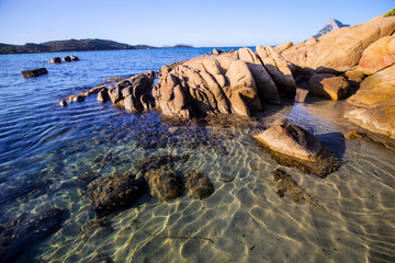 stones on the east coast of Sardinia, Italy