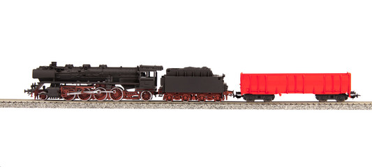 old steam loco model