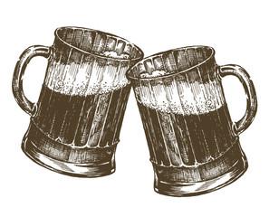 illustration. mug of beer on a white background. sketch