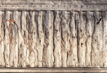 Metal wall texture, old industrial cargo container side