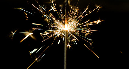 Sparkler sparks light