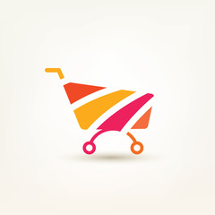 shopping cart simple icon, e-commerce, and internet marceting co