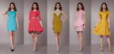 Sexy beauty business woman in fashion dress perfect slim body - 79847420