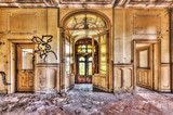 Derelict lobby in an abandoned manor