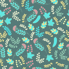 Leaf vector seamless pattern.