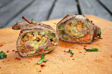 gefüllte rinderrouladen senf deftig rouladen rindfleisch