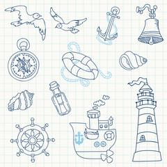 Nautical Sea Design Elements - for scrapbook