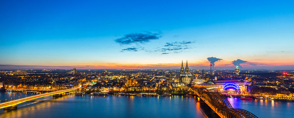 Cologne sunset Panorama