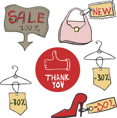 Sale labels - illustration