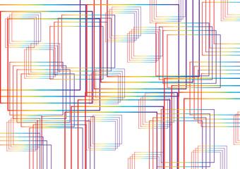 quadrati estrusi arcobaleno