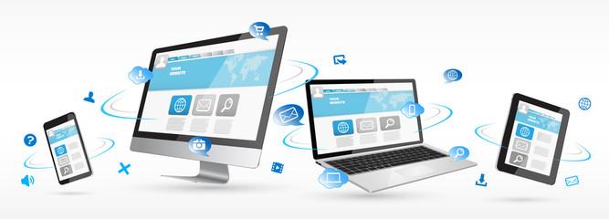 Modern digital tech device on white background