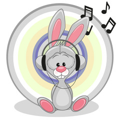 Bunny with headphones